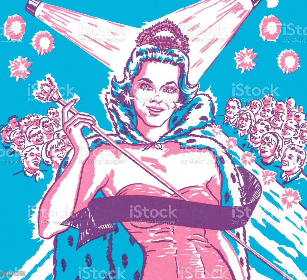 Pageant winner vector art illustration