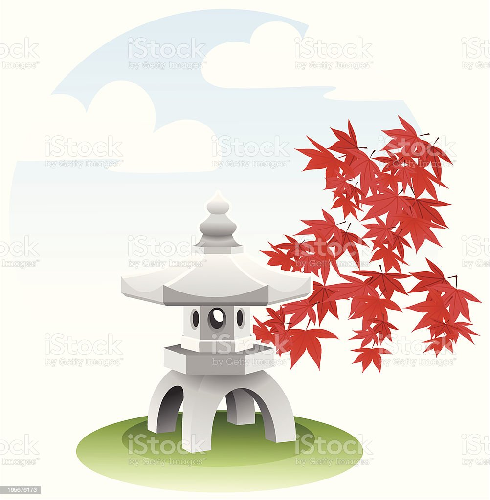 Pagoda royalty-free pagoda stock vector art & more images of cloudscape