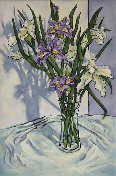 Paining of Irises vector art illustration