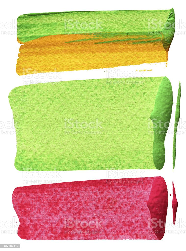 Paint Marks royalty-free stock vector art