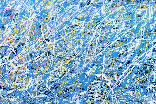 Play with paint background pattern. Explosion of colour in lines