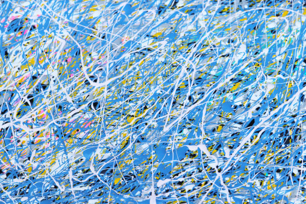 paint splattered background pattern - graffiti background stock illustrations