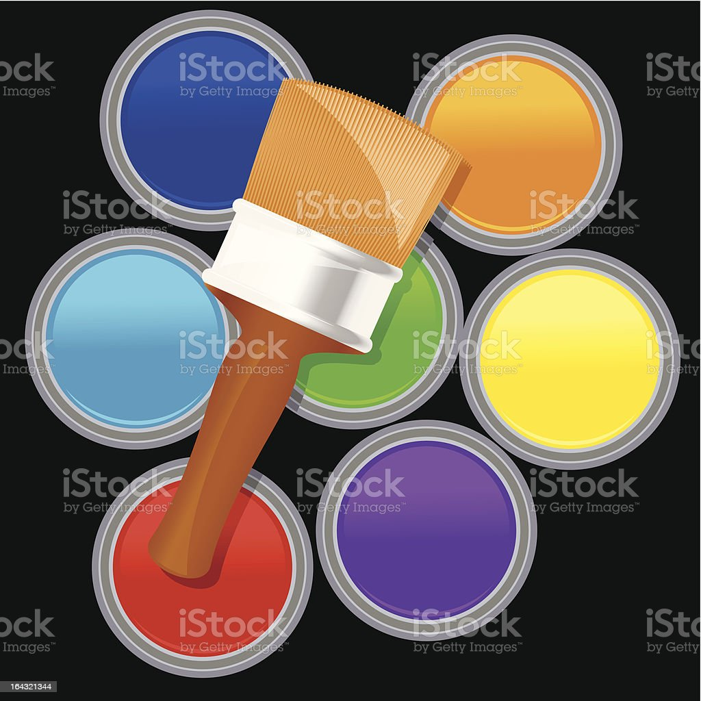 Paintbrush and paintcan royalty-free paintbrush and paintcan stock vector art & more images of acrylic painting
