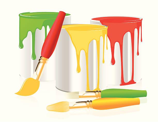 Pot peinture vecteurs et illustrations libres de droits istock - Pot de peinture prix ...