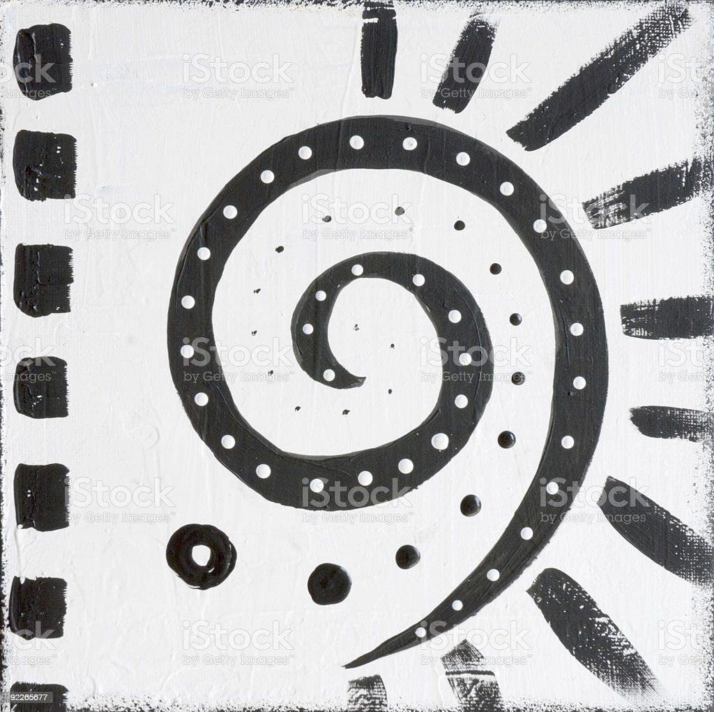 Painted african design black and white royalty free painted african design black and white stock