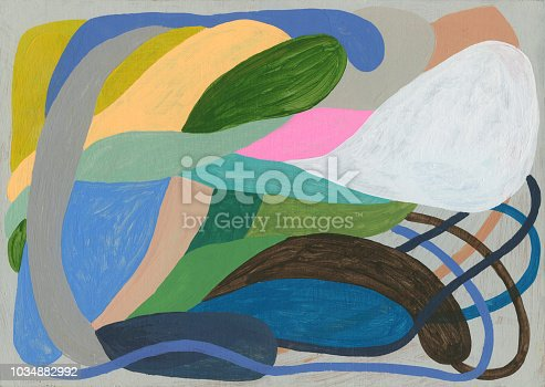 Abstract painting will make lovely background for something lovely