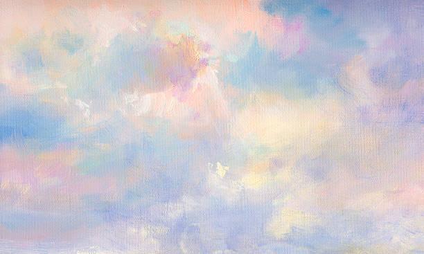 painted Wolken auf Leinwand – Vektorgrafik