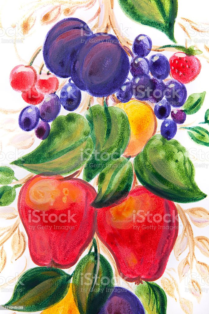 Painted Fruits royalty-free painted fruits stock vector art & more images of apple - fruit