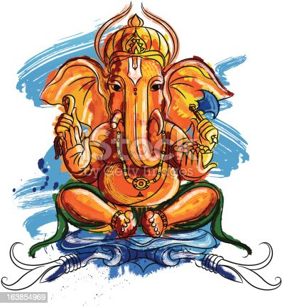 istock Painted Lord Ganesh 163854969