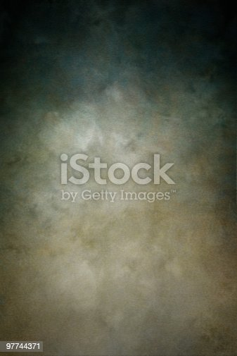 Painted muslin photo backdrop.