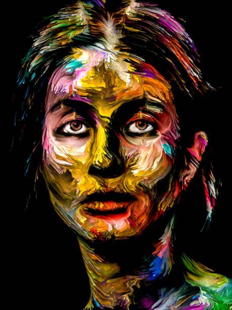 Painted Woman vector art illustration