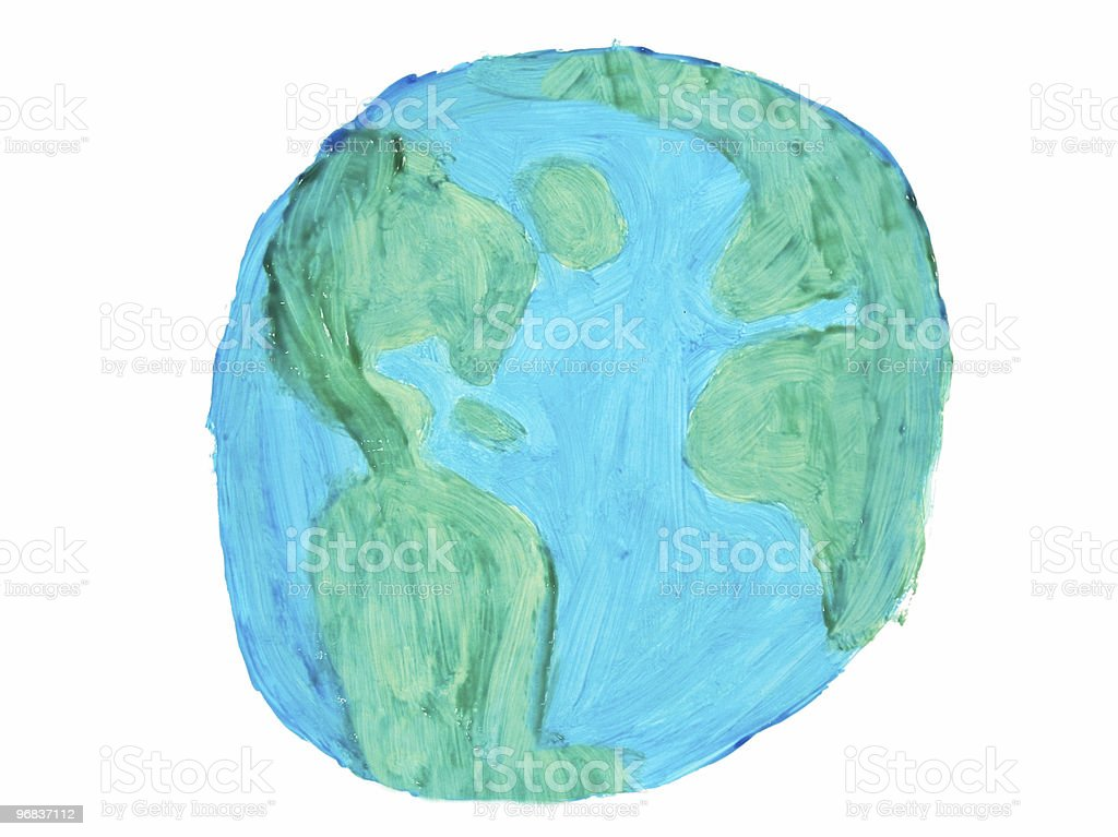 Painted World royalty-free painted world stock vector art & more images of art