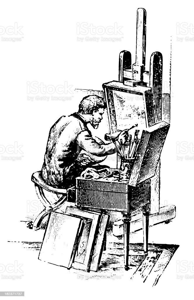 Painter | Antique Design Illustrations royalty-free stock vector art