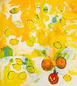 Painting ' Citrus ', artist Simonida Djordjevic, 05.28.2018 in Belgrade.