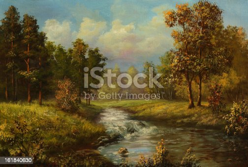 istock A painting of a warm autumn day 161840630