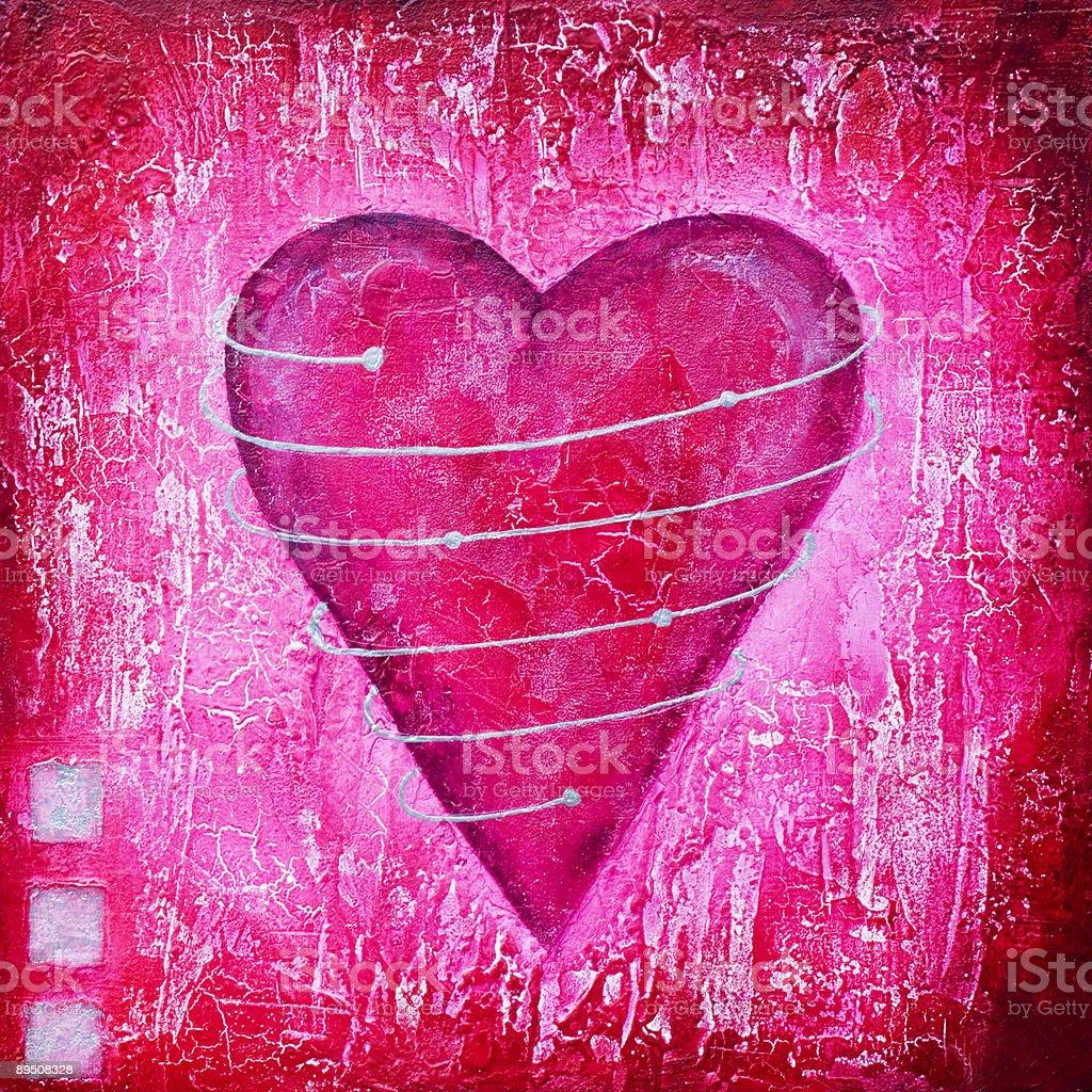 Peinture de cœur rose peinture de cœur rose – cliparts vectoriels et plus d'images de amour libre de droits