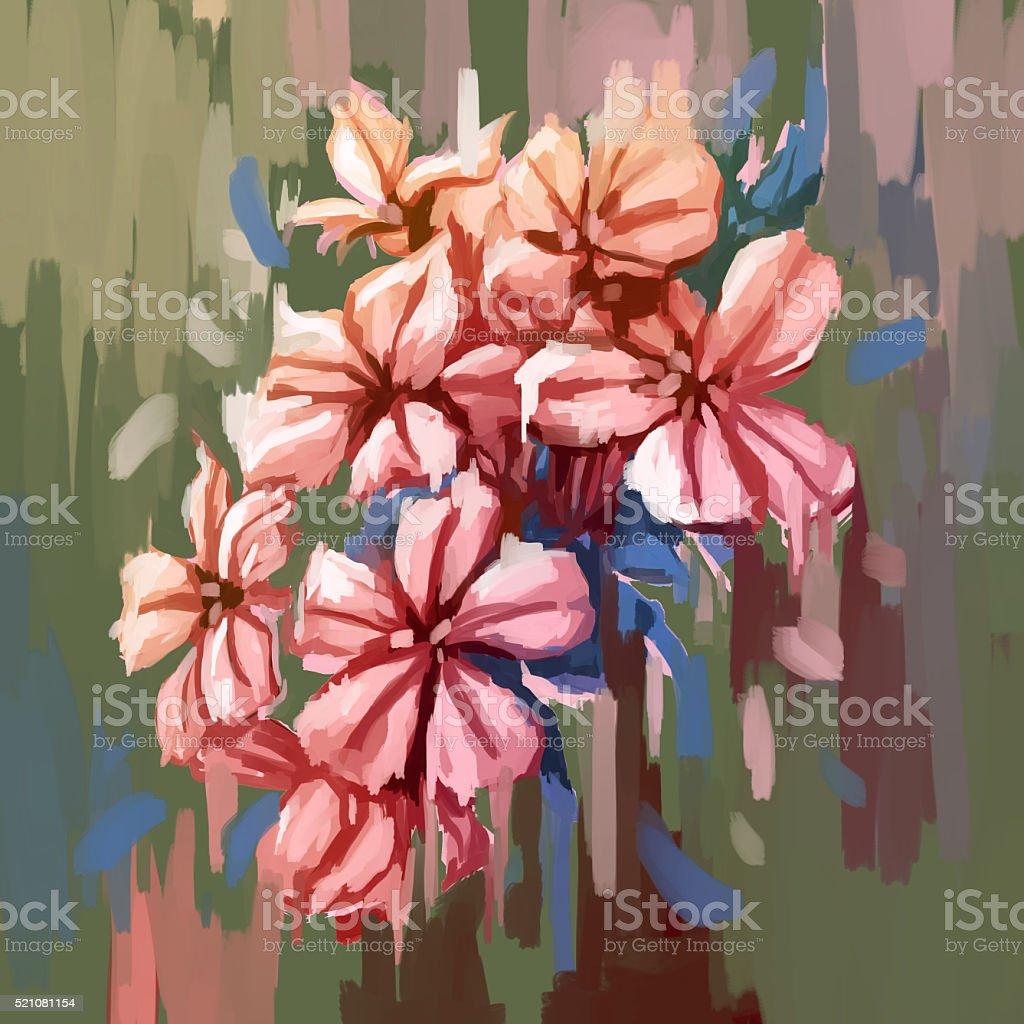 Gemalde Stillleben Mit Blumen Stock Vektor Art Und Mehr Bilder Von Blume Istock