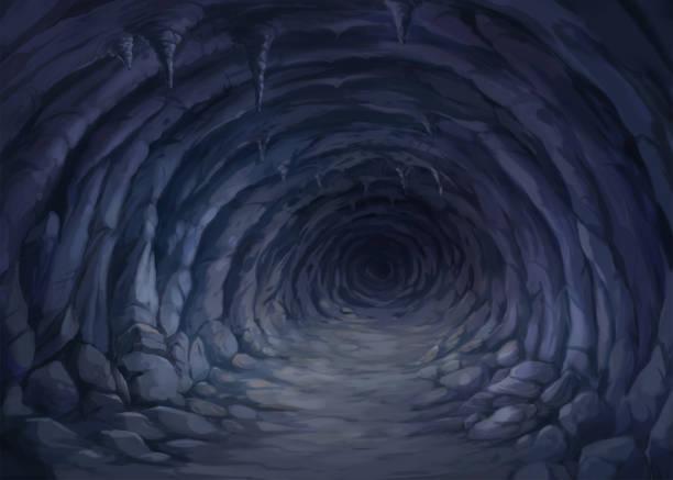 stockillustraties, clipart, cartoons en iconen met schilderijen in de grot. - grot