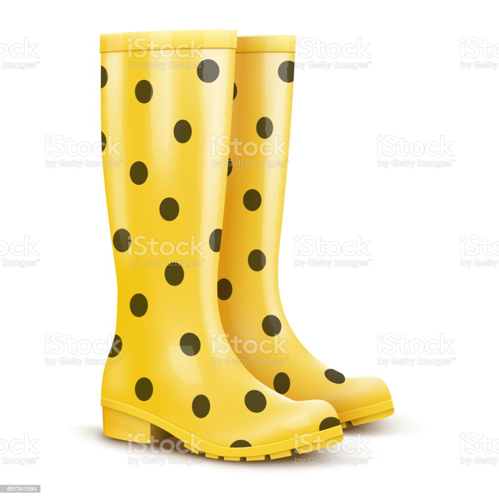 Pair Of Yellow Rain Boots Stock Vector Art & More Images ... - photo #4
