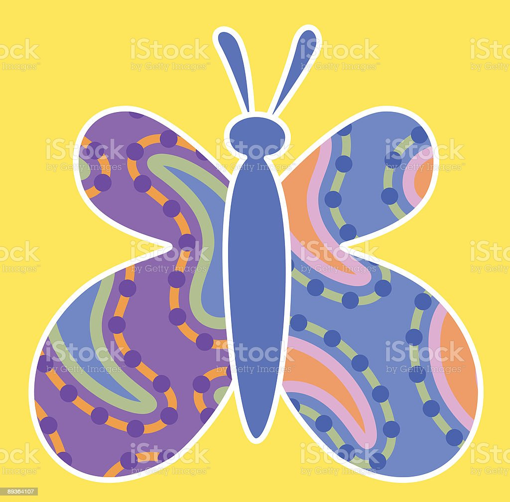 paisley butterfly.eps royalty-free paisley butterflyeps stock vector art & more images of 1960-1969