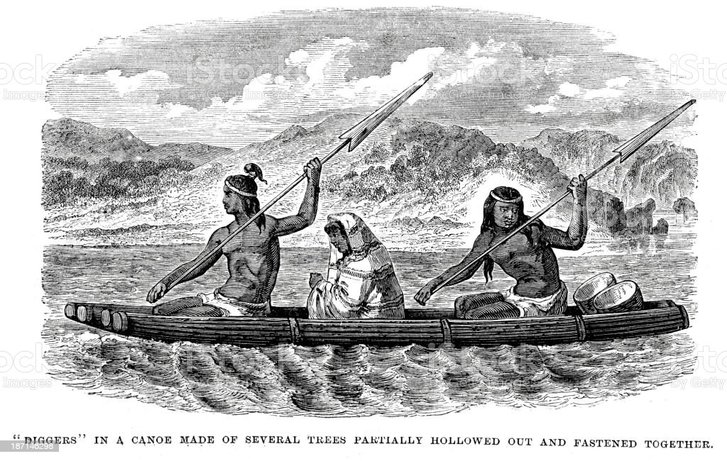 Paiute native americans vector art illustration