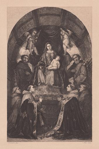 Pala di San Francesco di Brescia, painted by Girolamo Romanino