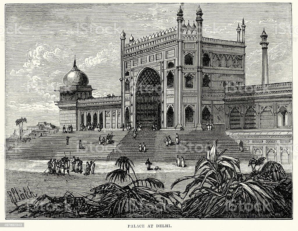 Palace at Delhi royalty-free palace at delhi stock vector art & more images of 19th century