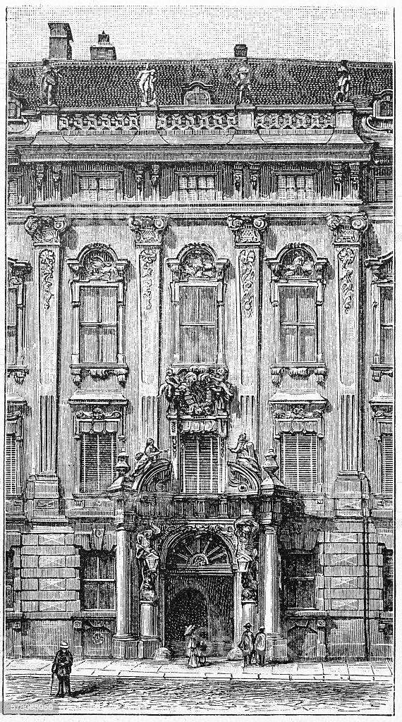 Palace Kinski in Vienna, Austria vector art illustration
