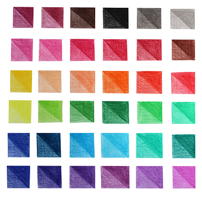 Palette colour pencils art abstract background with colorful squares