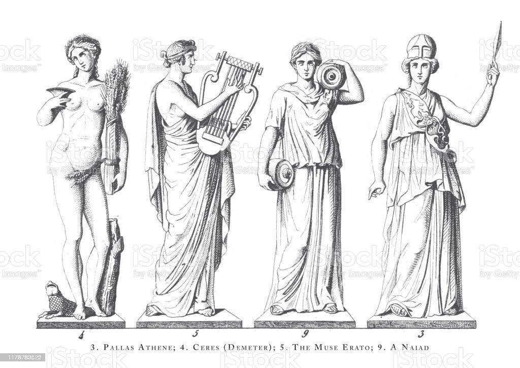 Betere Pallas Athene Ceres De Muze Erato Naiad Griekse En Romeinse Goden KF-05
