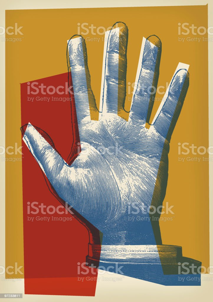 Palm of hand royalty-free palm of hand stock vector art & more images of arms raised