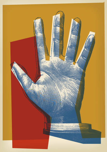 palm of hand - modern art stock illustrations