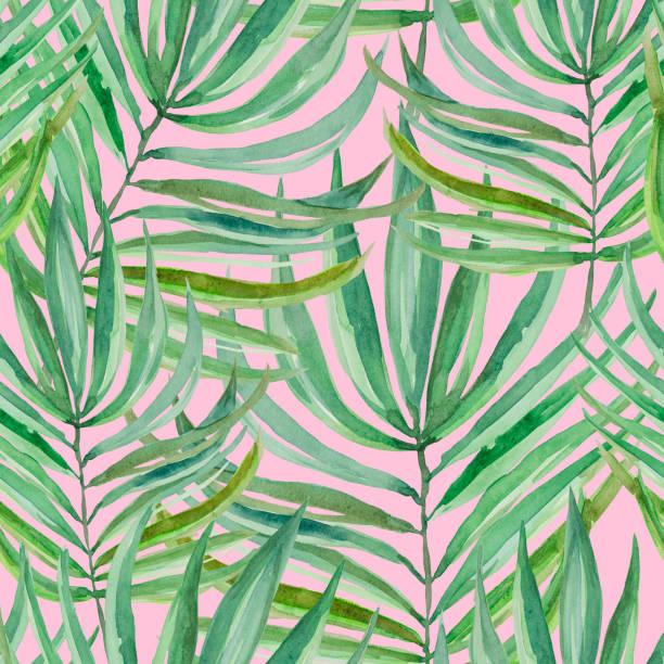 palm pattern - palm sunday stock illustrations, clip art, cartoons, & icons