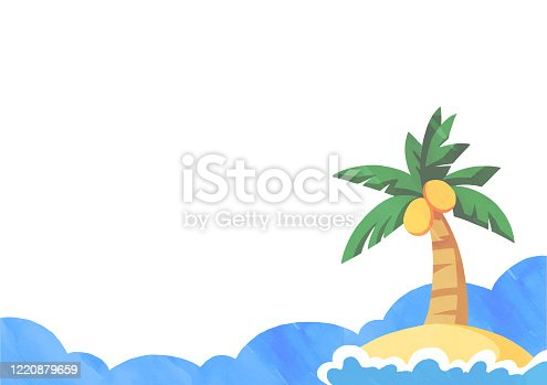 Palm tree background material illustration