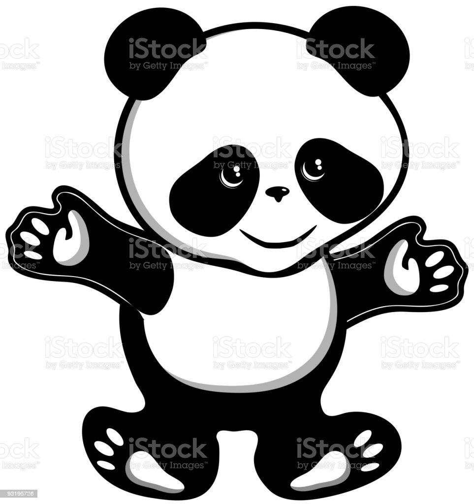 Panda bear royalty-free panda bear stock vector art & more images of animal foot