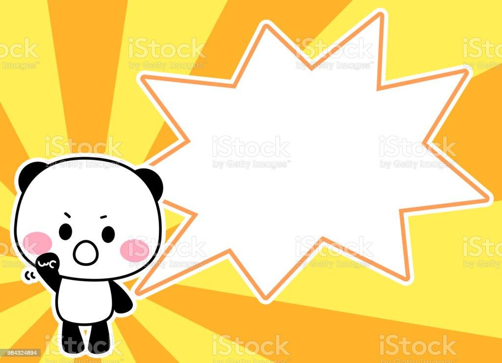 Panda's character and speech putting in spirit vector art illustration