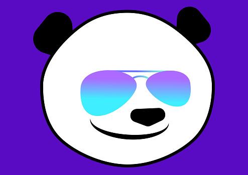 Pander bear with teardrop sunglasses
