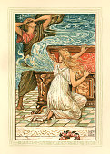 Pandora opens the box - Greek mythology