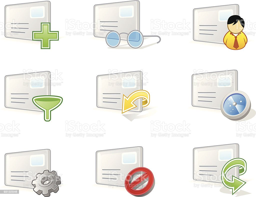 Panelo icon set: Email Management royalty-free stock vector art