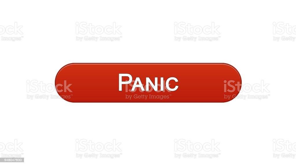 Ilustración de Interfaz De Web Panic Botón Vino Color Rojo Diseño De ...