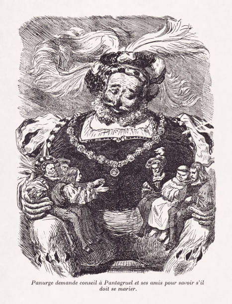 Pantagruel from the works of Rabelais vector art illustration