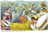 Pantagruel's Dream, satirical cartoon weekly of 1878