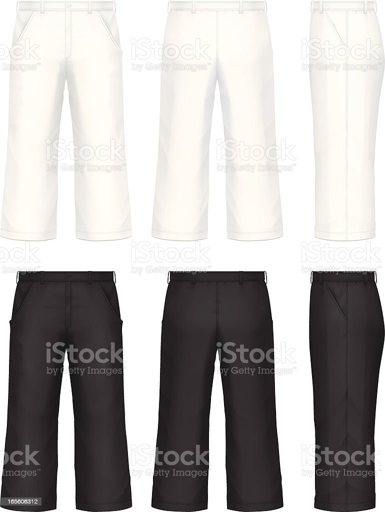 Pants vector art illustration