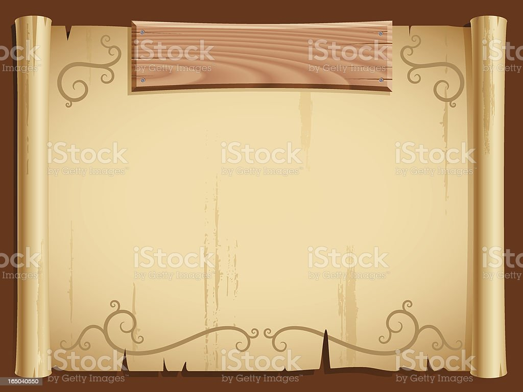 paper and wood background (vector) royalty-free stock vector art