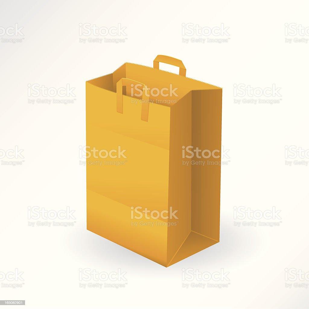 Paper Bag vector art illustration