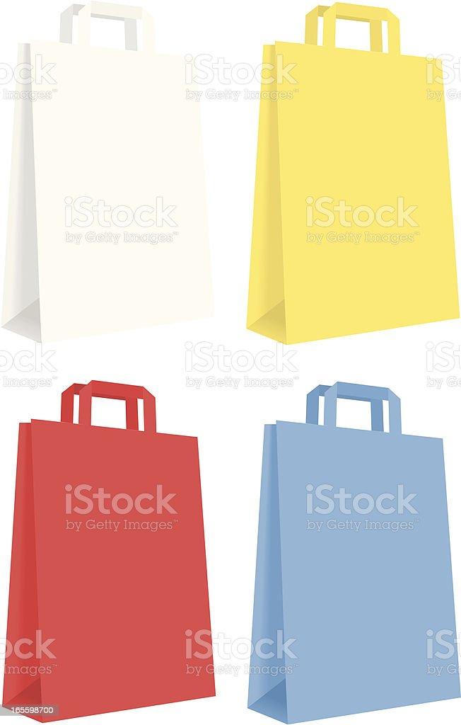 Bolsas de papel ilustración de bolsas de papel y más banco de imágenes de amarillo - color libre de derechos