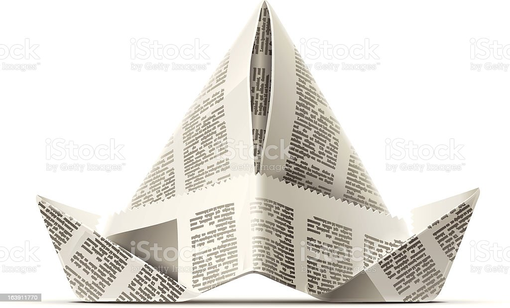 paper cap as origami handicraft royalty-free paper cap as origami handicraft stock vector art & more images of clip art