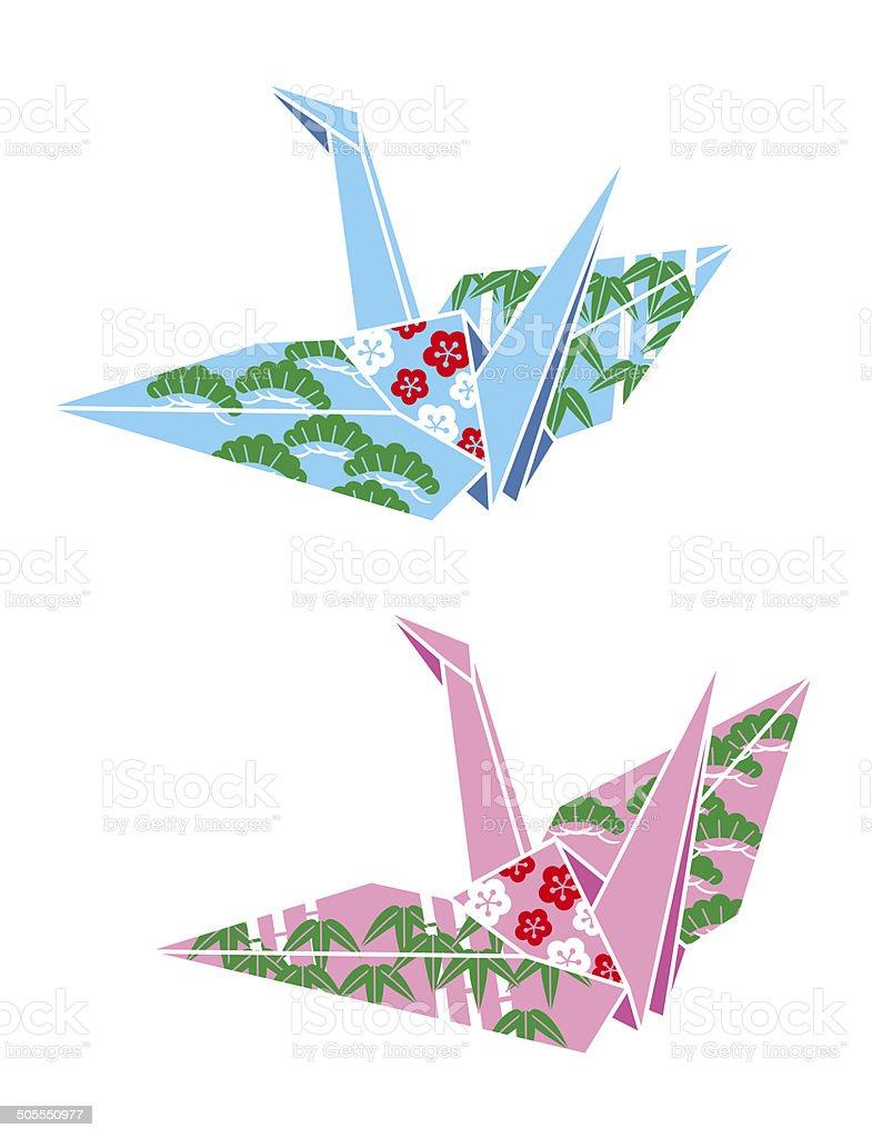 paper cranes origami japanese culture stock vector art