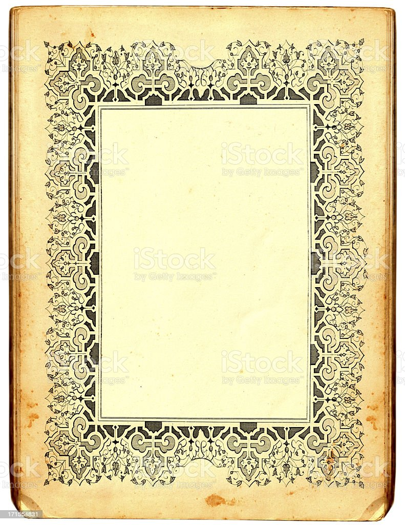 Paper frame royalty-free stock vector art