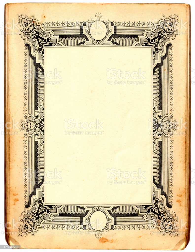 Paper frame royalty-free stock vector art